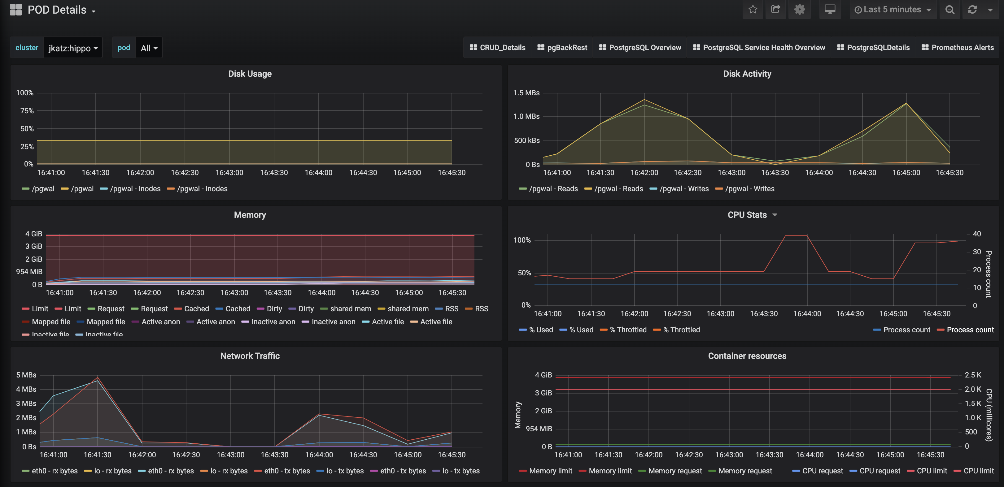postgresql-monitoring-pod